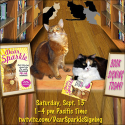 Dear Sparkle book signing pawty graphic