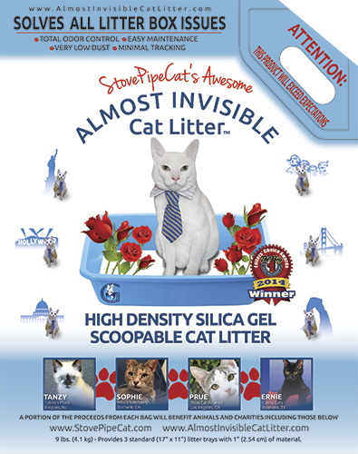 Almost Invisible Cat Litter package