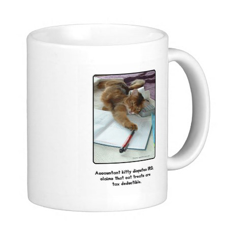 Accountant Kitty Mug