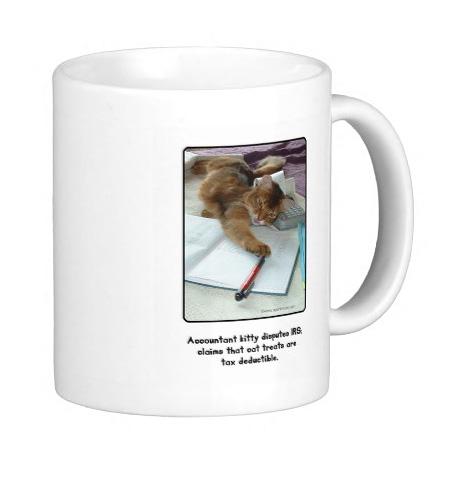 Accountant Kitty Mug