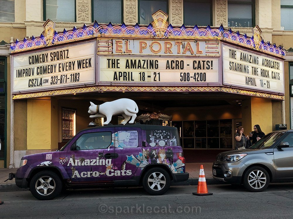 The Acro-cats at the El Portal theater in North Hollywood
