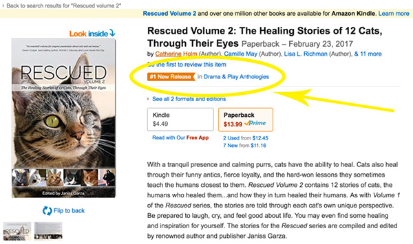 Rescued Volume 2 Amazon page