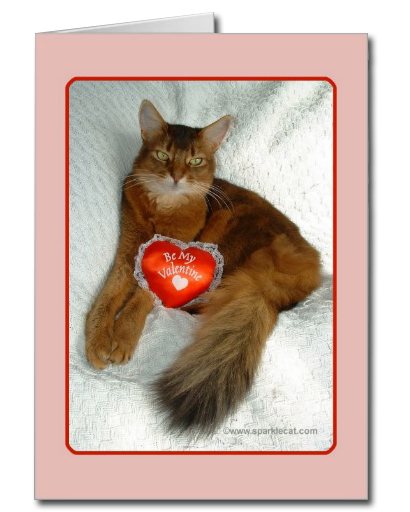 Be My Valentine Kitty Card