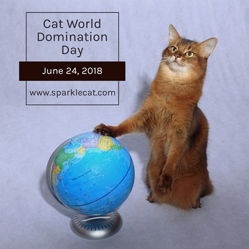 Official Cat World Domination Day graphic for 2018