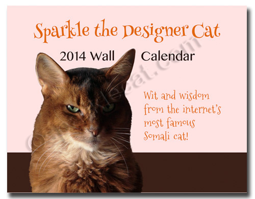 Sparkle's Somali Cat 2014 Wall Calendar