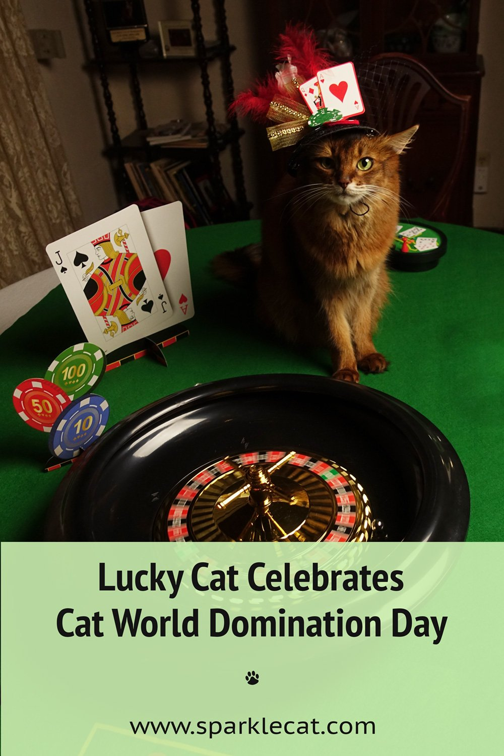 Cat World Domination Day Casino Party and Giveaway!