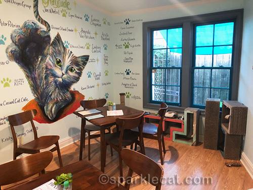 Smaller room of El Gato Coffee House