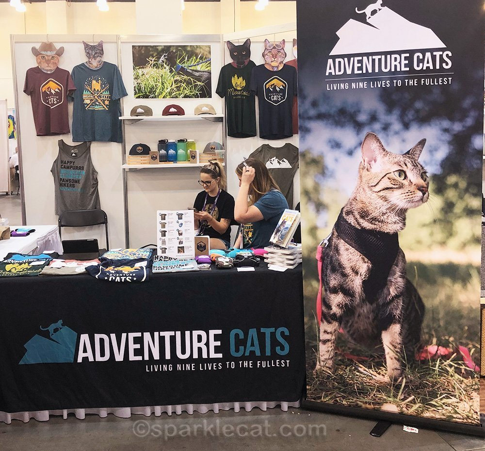 Adventure cat booth at catcon weekend