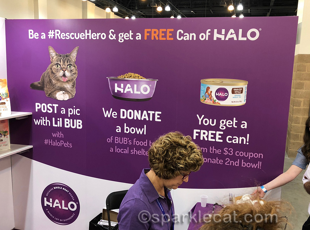 Halo pet food booth at CatCon