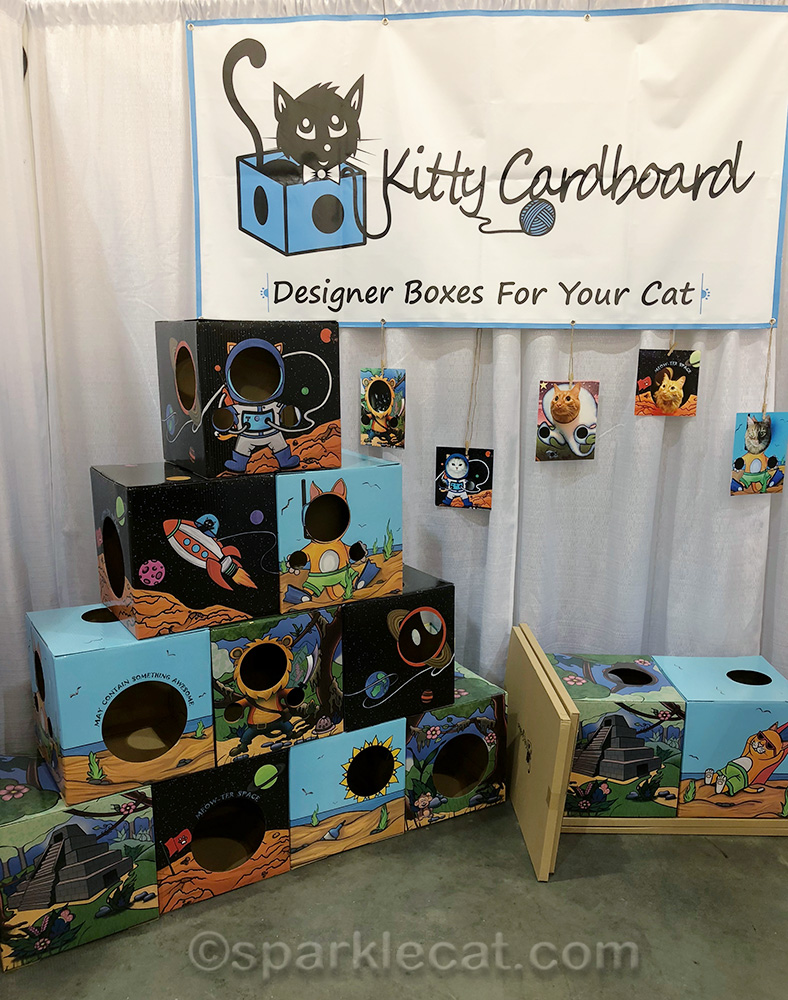 Kitty Cardboard booth