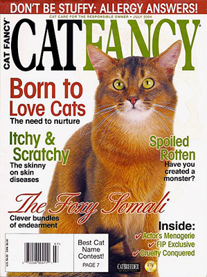 Dad on the Cover of Cat Fancy, July 2004