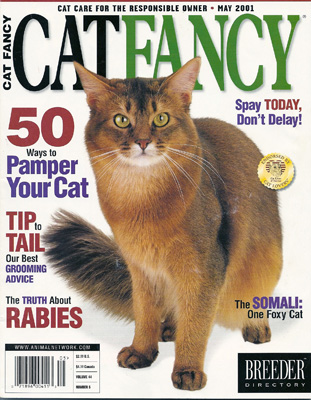 My dad's first Cat Fancy Cover, May 2001