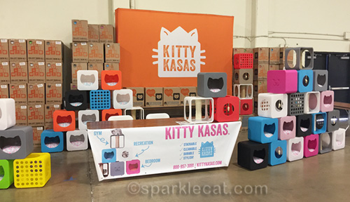 Kitty Kasas vending area at del mar cat show