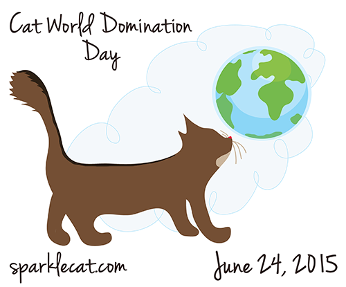 Cat World Domination Day Banner
