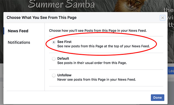The alternate way to see a Page first