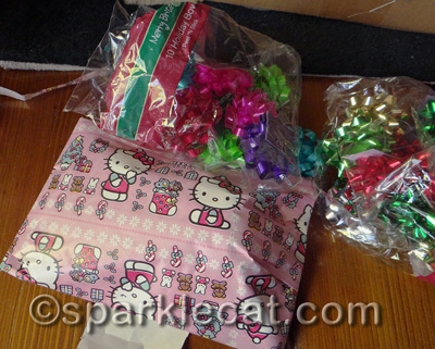 This is what happens when humans buy wrapping and bows separately