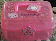 A designer Hello Kitty toy chest of course
