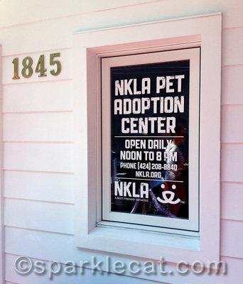 The front of the new NKLA Pet Adoption Center