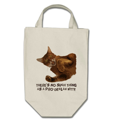 No Declaw Grocery Tote Bag