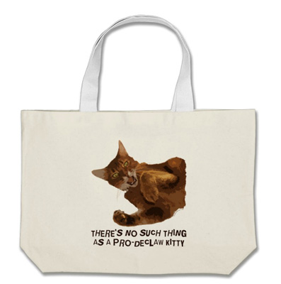 No Declaw Jumbo Tote Bag