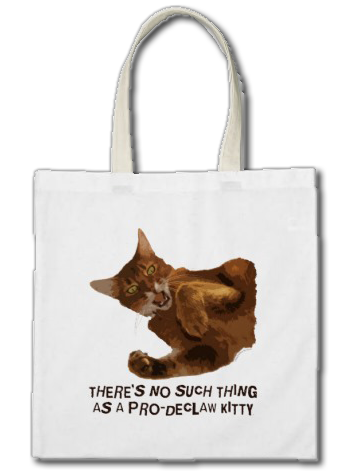 No Declaw Kitty Tote Bag