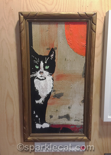 cat painting at Kitty Bungalow event