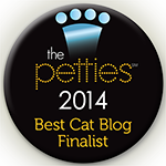 I'm a 2014 Petties finalist for Best Cat Blog!
