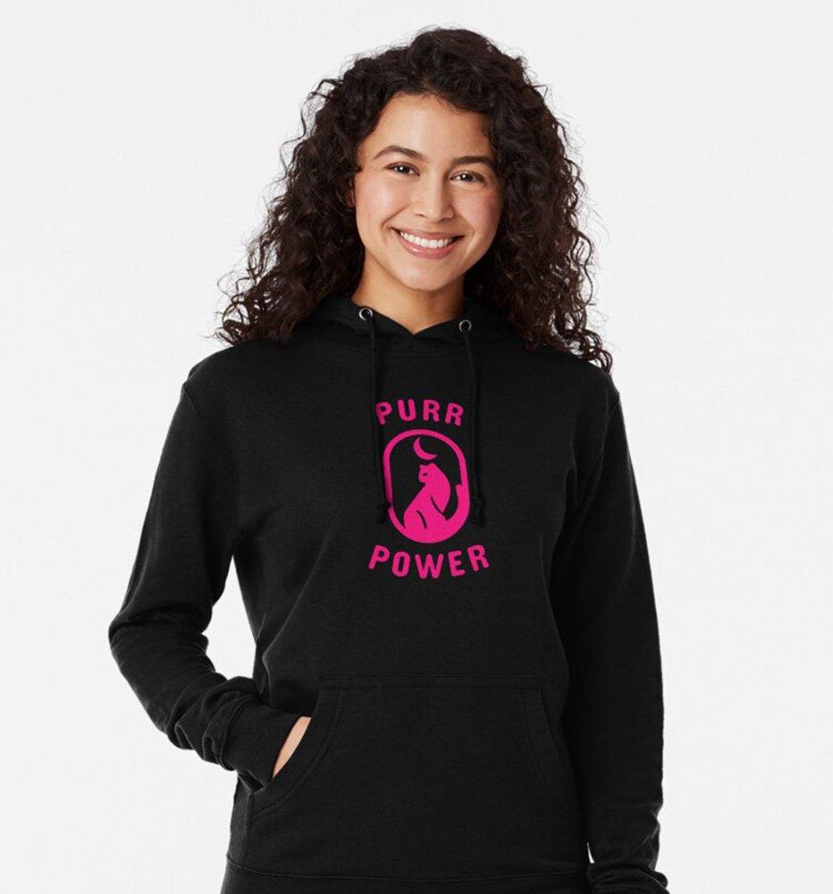 purr power hoodie
