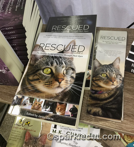 Rescued cat books at blogpaws