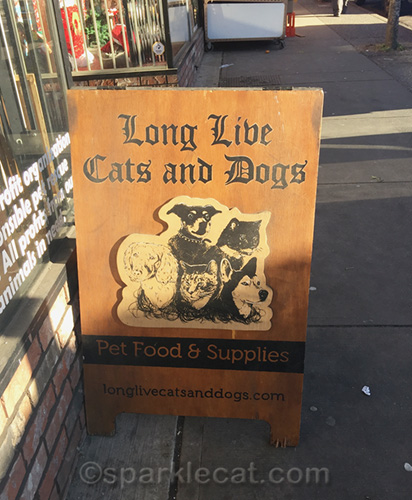 Long Live Cats and Dogs sign