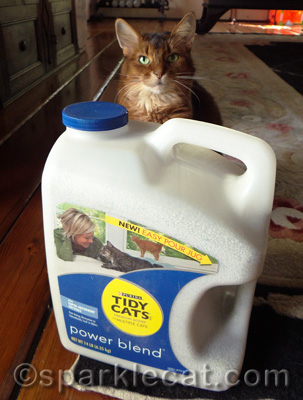 Whew! I would have been SO embarrassed if my human had left the jug backwards.