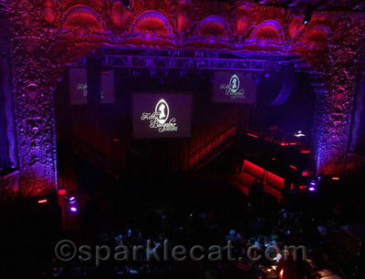 A CATbaret stage at the Belasco Theatre