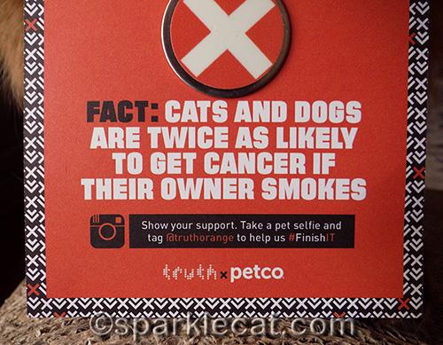 PetCo anti-smoking card