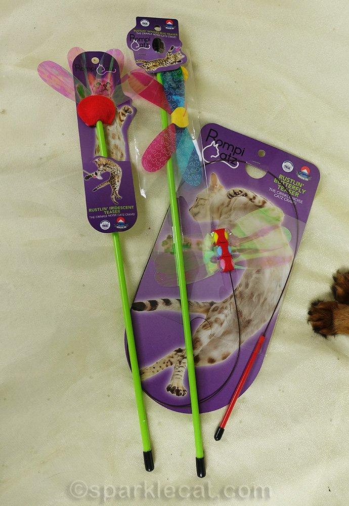 closer shots of RompiCatz cat toys