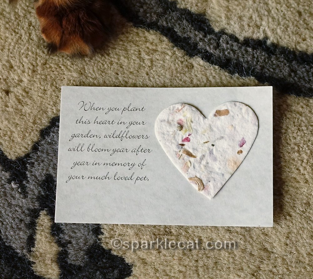 heart with wildflower seeds card