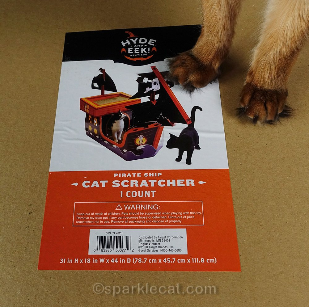 label for Target's pirate cat scratcher