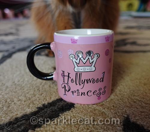 close up of tiny Hollywood Princess mug