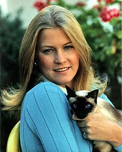 Susan Ford and Shan the Siamese cat