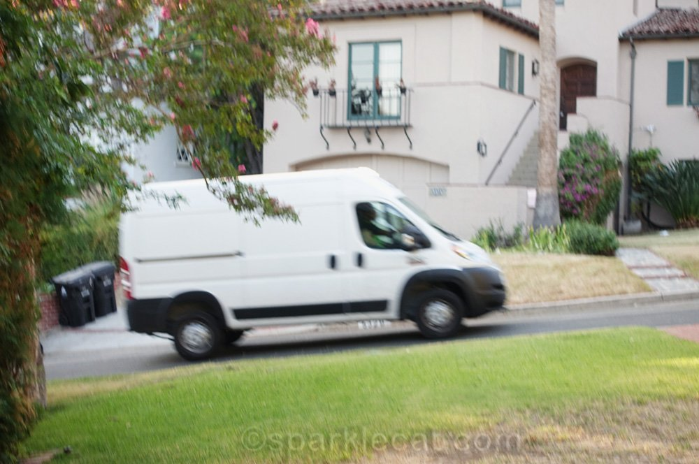 failed photo of van driving by