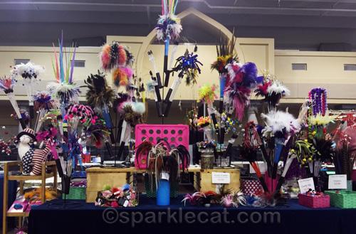 vendor area at cat show