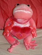 Ick! Ugly, scary pink frog!